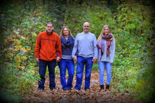 Cody Joanne Brad and Keegan Stroll in the Woods