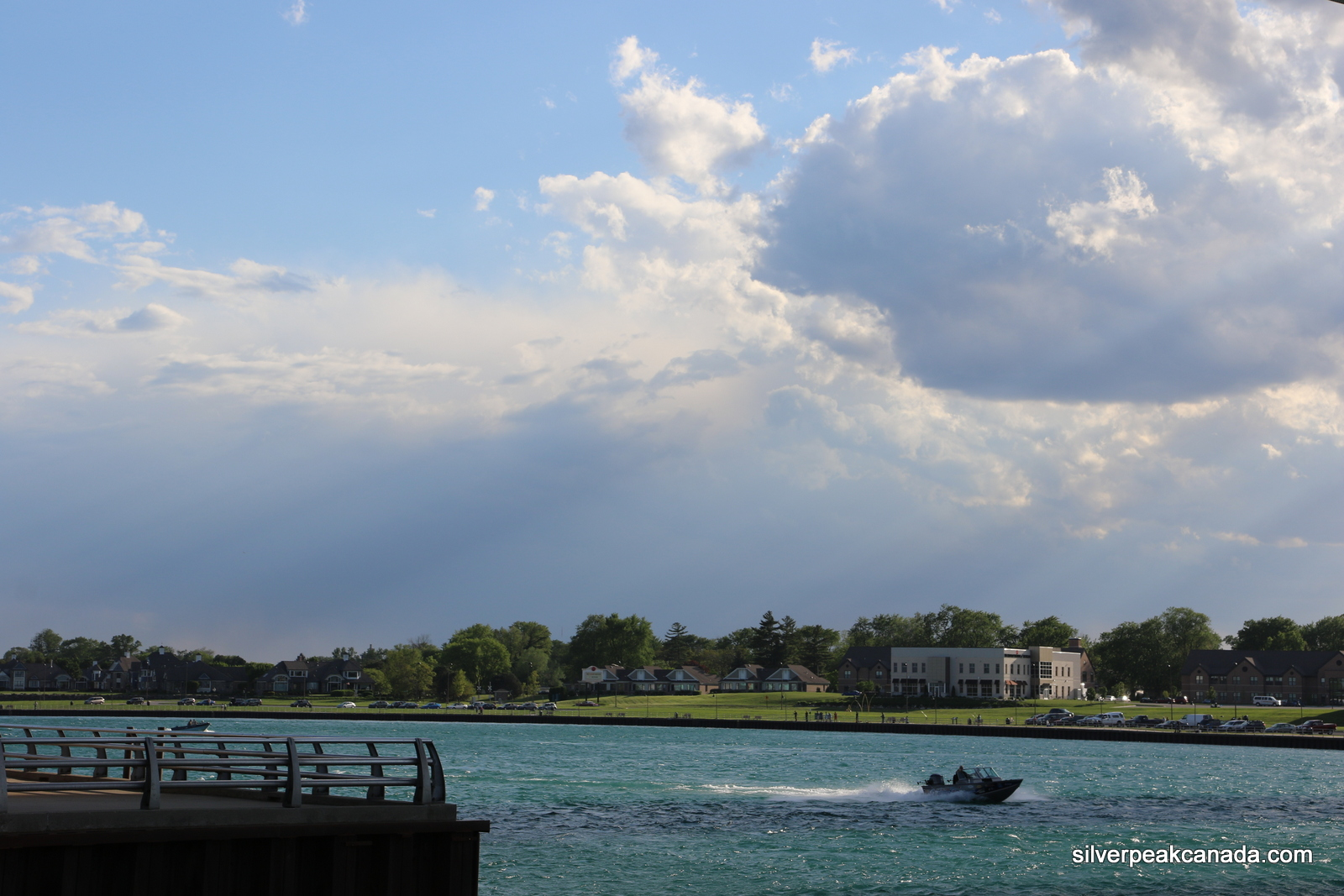 Rays Throught the Clouds Sarnia Ontario St Clair River