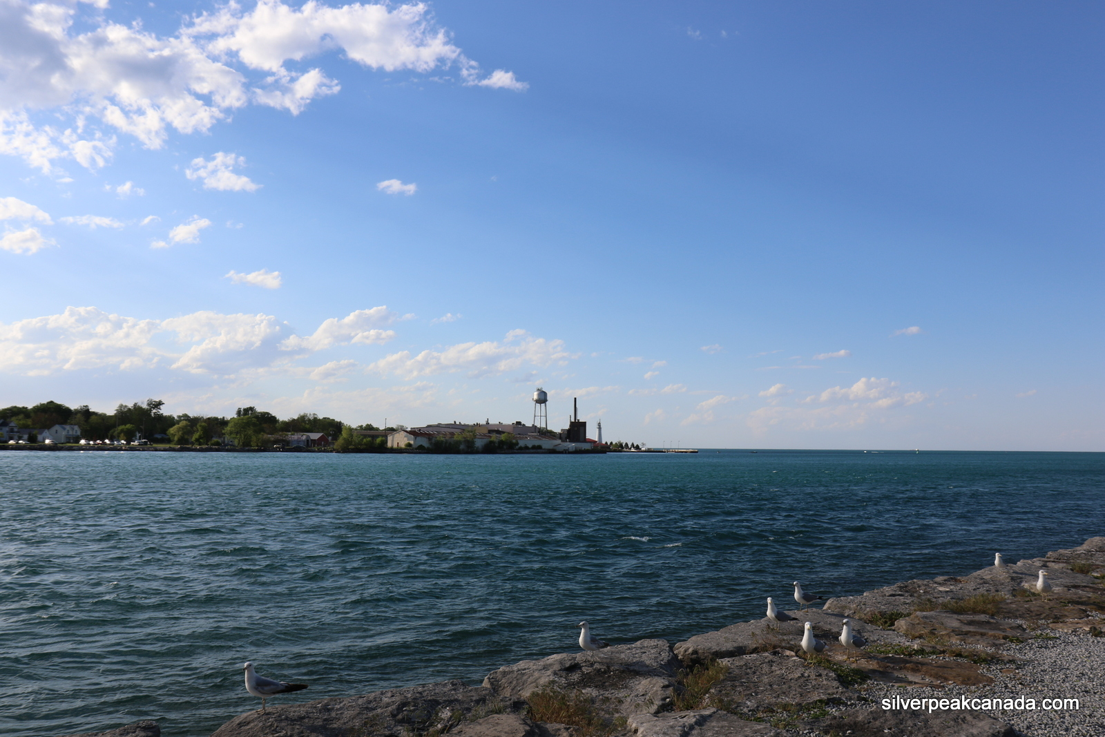 Sarnia Ontraio St Clair River Towards Port Huron Sun Rays