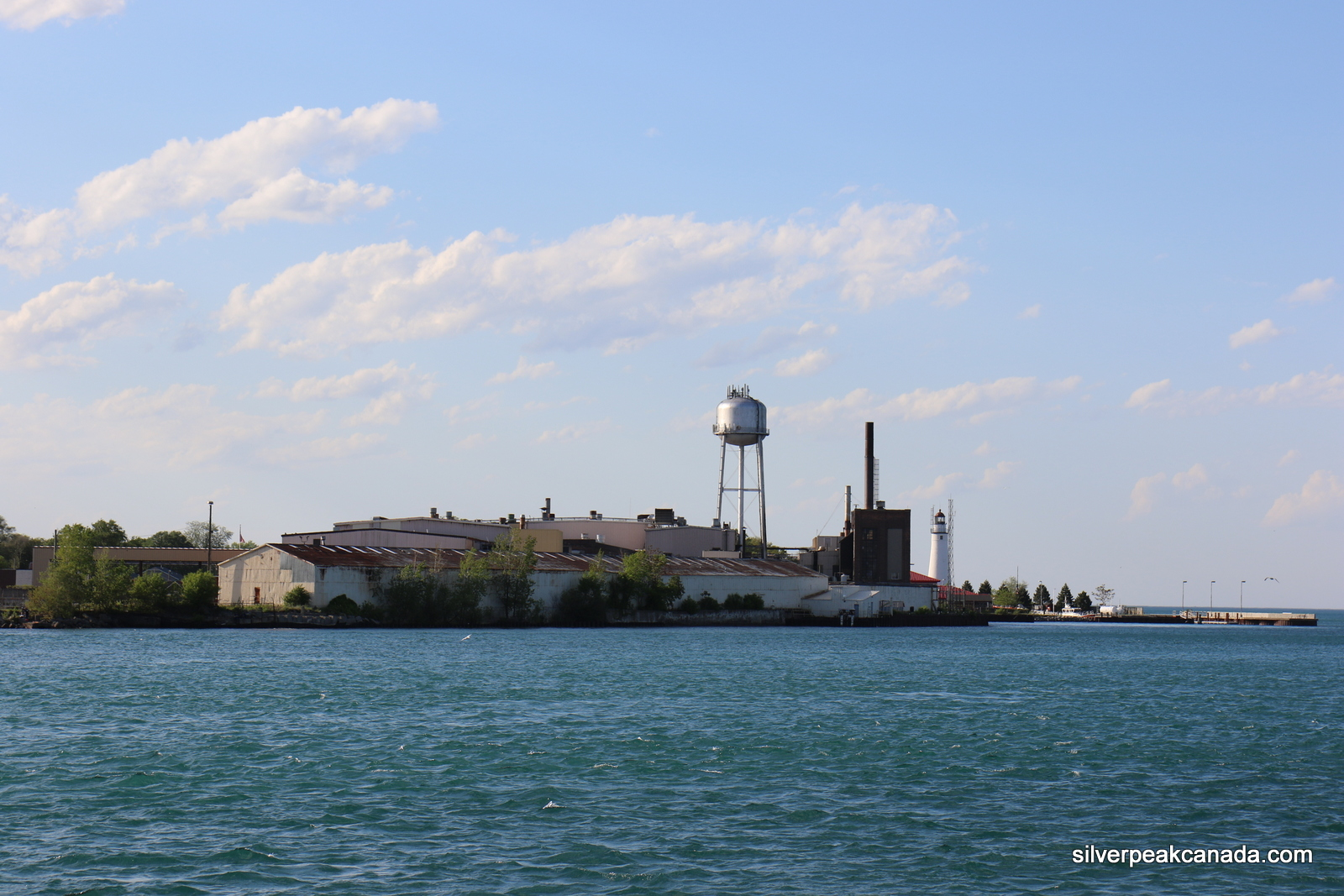Sarnia Ontraio St Clair River Towards Port Huron