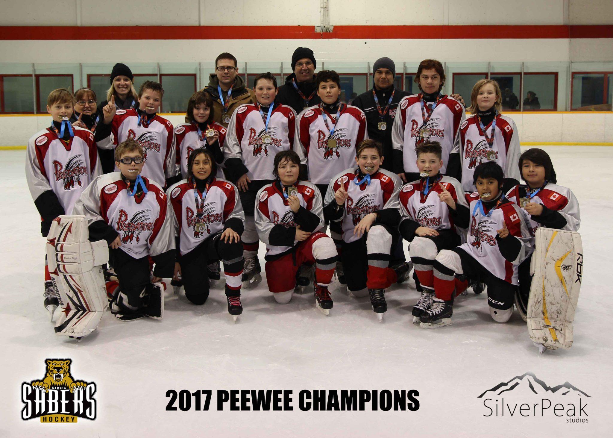 _Peewee Lambton Shores Predators Champions