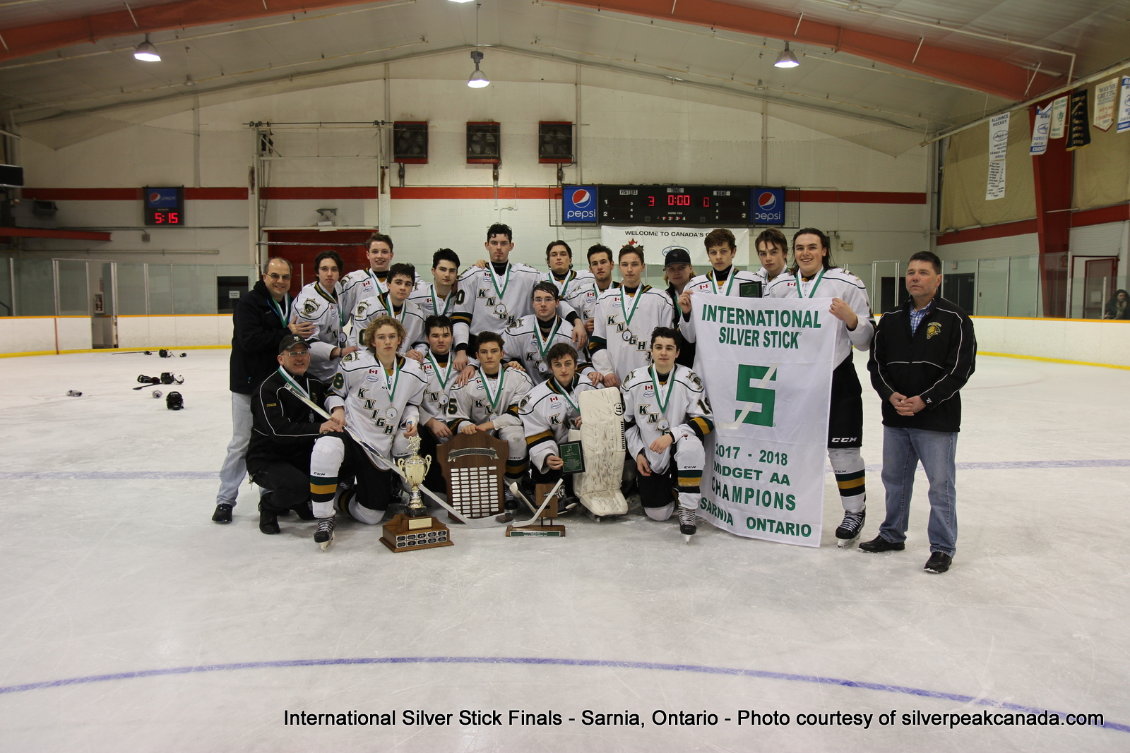 Silver Stick Finals Photos Sarnia SilverPeak Studios Action Photography Midget AA Champions